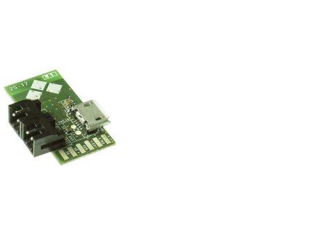Plataforma Blautic A0-F, alimentación permanente mediante micro USB o voltajes entre 5-12V. Anverso