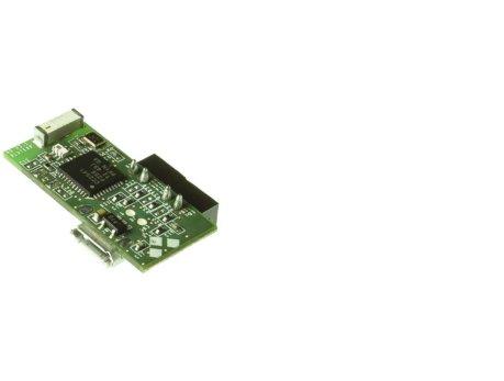 Plataforma Blautic A0-F, alimentación permanente mediante micro USB o voltajes entre 5-12V. Reverso